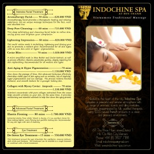 Intensive Facial Care Menu